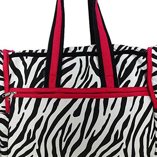 Gesteppte Print Reisetasche mit wasserdichtem Futter und 3 Taschen - Perfekt für Shopping, Strand und Ausflüge Multi-128