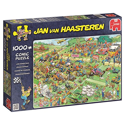 Jumbo 19021 - Jan Van Haasteren -  Rasenmäherrennen - 1000 Teile