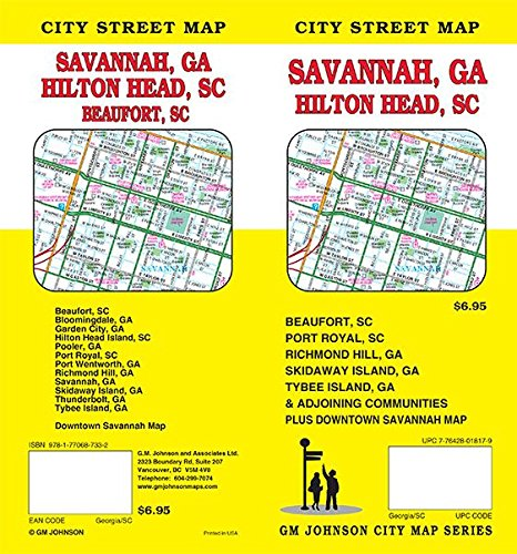Savannah GA / Hilton Head SC / Beaufort SC, Georgia and South Carolina Street Map