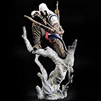 No Splendidamente Assassins Creed Gioco Anime Action Figure Modello Connor Statua Decorazione della casa Vita Quotidiana da Collezione Giocattolo per Bambini Regalo 26 CM