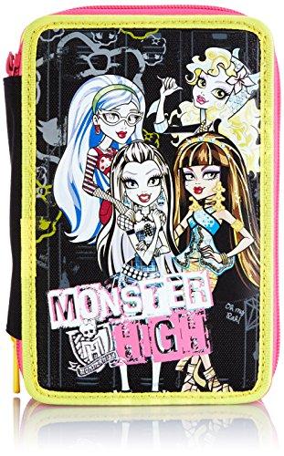 Monster High – Case School 3 compartimientos, Negro / Amarillo
