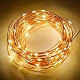 #8: Copper String LED light 10M 100 LED USB Operated Wire Decorative Lights Diwali Christmas