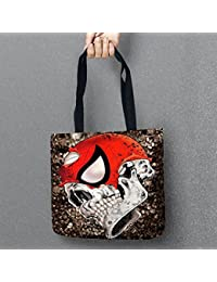EasyBuy India 16 : The Day Of Dead Storage Bags Skull Printed Shopping Tote Linen Bag For Food Convenience Women...