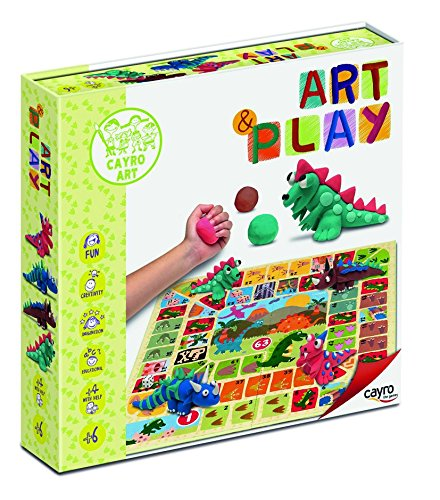 Cayro Toys - Art Play Game, to Make Dinosaurs with Plasticine and Paint Mat