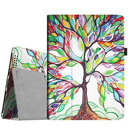 4. Generation-folio Ipad (Fintie iPad 2 / 3 / 4 Hülle Case - Folio Slim Fit Kunstleder Schutzhülle Cover Tasche mit Auto Schlaf / Wach Funktion für Apple iPad 2 / iPad 3 / iPad 4, Liebesbaum)