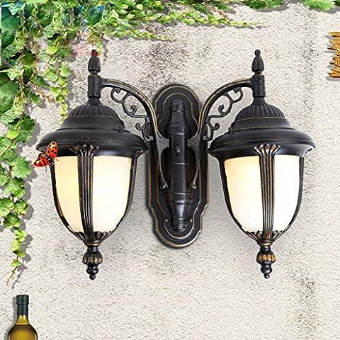 SF - Double European Outdoor Wall Lamp Outdoor Waterproof Balcony Aisle Lights Corridor Door Villa Facades