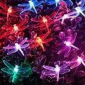 Solarbuy24 Solar Lichterkette LED Lichterkette Garten Beleuchtung mit 21 Libellen Farbwechsel für Gärten, Häuser, Outdoor, christmasParty von Hubei jinmao boli trade Ltd. - Du und dein Garten