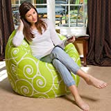 Scroll design, cotton canvas comfort research printed bean bag cover, Size XXL by StyleCrome Store