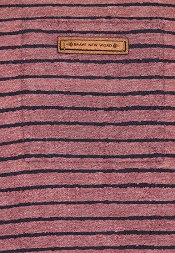 Naketano Male Sweatshirt Kommt Ein Dünnschiss III Heritage Bordeaux Melange