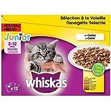 whiskas Junior Sachets fraîcheur en gelée 4 variétés - Les 12 sachets de 100 g