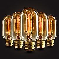 5×Neverland 40W T45 Vintage Light Bulb E27 Screw Retro Edison Style Filament Squirrel Cage 50V-240V