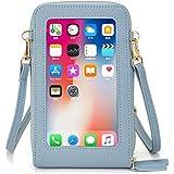 Klein Handy Umhängetasche Damen Touchscreen Geldbörse Geldbeutel Crossbody kleine Handytasche Handtasche Brieftasche Zum Umhä