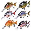 INHDBOX Multi Jointed Fishing Life-like Hard Lure Bass Bait Swimbait Minnow Crank Shad Herring Bass Pike Muskie from INHDBOX