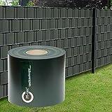 PVC Zaunsichtschutzstreifen/M-tec Profi-line / 65m x 19cm ✔ anthrazit ✔ hochwertige Zaunbauerqualität ✔ für Stabmattenzaun ✔ | Nach M-tec technology Rezeptur hergestellt |