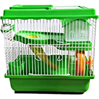 Pawing Playhouse for Hamster, Dwarf Mice, Gerbil Haven Habitat Small Cage with Accessories (Random Colour)