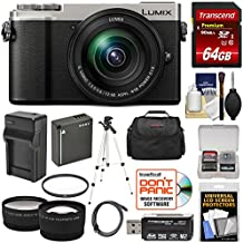 Panasonic Lumix DC-GX9 4K Wi-Fi Digital Camera & 12-60mm Lens (Silver) With 64GB Card + Battery & Charger + Case + Tripod + Filter + Tele/Wide Lens Kit