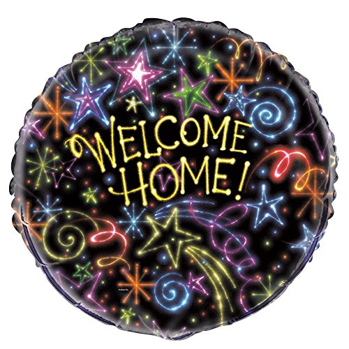 Unique Party Supplies 45,7 cm Folie Neon Sterne Welcome Home (Neon Party Supplies)