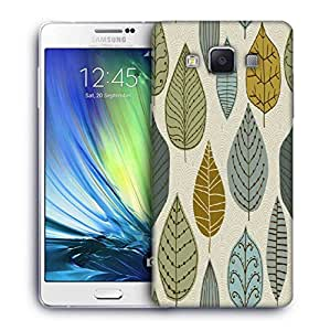 Snoogg Standing Leaves Printed Protective Phone Back Case Cover For Samsung Galaxy A7