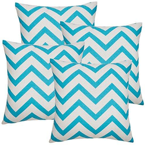 avanzza Set di federa per cuscinoFedera 40 x 40 cm in turchese per cuscino, cuscino del divanocuscino del divano e cuscino decorativocuscino