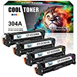 Cool Toner 4 Packs Kompatibel für CC530A CC531A CC532A CC533A 304A Toner für HP Color Laserjet CP2025 CP2025N CP2025DN CM2320 CM2320N MFP CM2320NF CM2320FXI Toner Drucker Schwarz Color