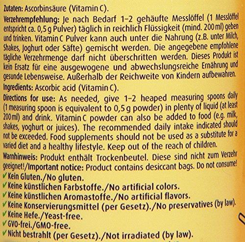 61D4WvPKPRL - ZeinPharma Vitamina C Mono Polvo, 1er Pack (1 x 250 g)