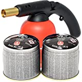 PROWELTEK - Lampe à souder Piezo - Inclus: 2 cartouches 190 Gr Butane/Propane mix