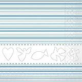 Sovie Home Serviette Kommunion/Konfirmation / Tissue-Servietten 33x33 cm/saugstarke und Hochwertige Einweg-Servietten (Blau)