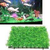 "Colourful Aquarium Artificial / Plastic Plant For Decoration - 11"" Square Mat Grass"
