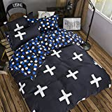 #4: comforters king size with bedsheet(4 Piece Combo Set of Double Luxurious Reversible Comforter and Premium Elegant Bedsheets with 2 Pillow Covers)
