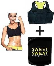 VINGABOY Sweet Sweat Top And Slimming Belt / Tummy Trimmer Hot Body Shaper Slim Belt / Hot Waist Shaper Belt Instant Slim Look Belt For Women