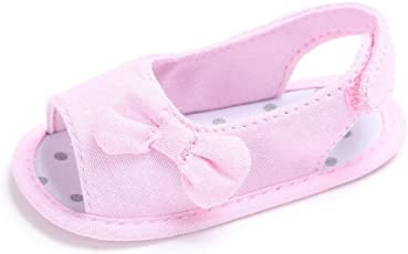 Voberry Voberry Baby-Girl's Newborn Toddler Soft Sole Bowknot Sandals Shoes Crib Cloth Prewalkers