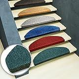 Lot de 15 marchettes d'escalier casa pura® en couleurs diverses | modèle Paris | adhésives et faciles à placer | gris