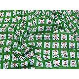 Père Noël Carreaux Impression Tissu en polycoton Vert–au mètre