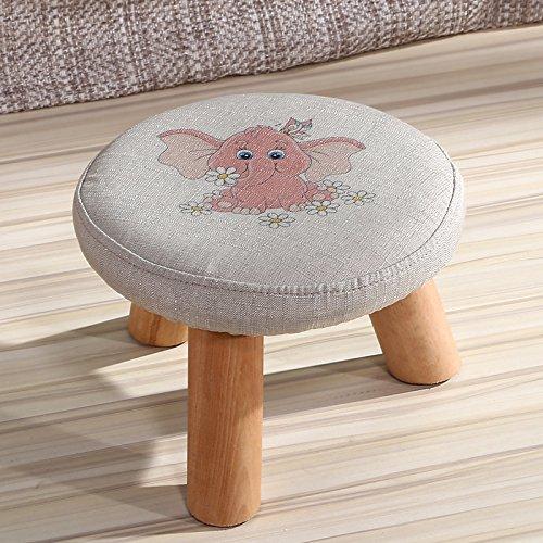 Dana Carrie En d'autres selles banc de chaussures sur une table basse tabouret bas en bois massif et tissus adultes enfants créatifs élégante petite chaise canapé tabouret rond comme
