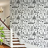 #6: DeStudio Famous Places Of Europe Peel and Stick Wallpaper (Self Adhesive), 01 Roll / 26.7 Sqft (41 X 610 cms)-14125