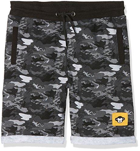 Ben & Lea Jungen Short Largu, Grau (Grau Camouflage 094), 122 (Herstellergröße: 122/128) (Baumwolle Camouflage Shorts)