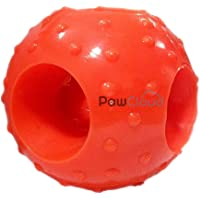 PawCloud Dog Ball Toy with Hole|Dog Rubber Chew Toy | Small | Multicolor