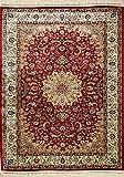 Tappeto Persiano Rosso di Alta qualità - Classico Alta qualità | 100 x 140 cm