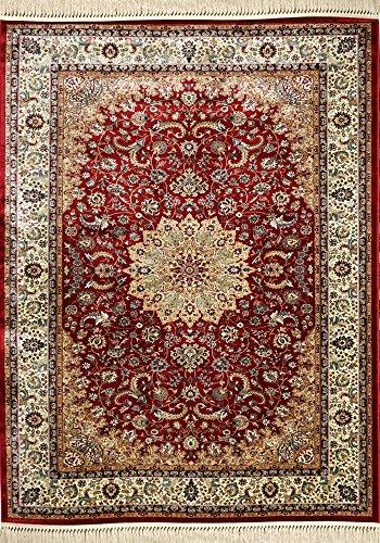 Tappeto persiano rosso di alta qualità - classico alta qualità | 80 x 150 cm