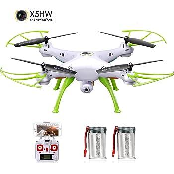 Drone FPV Droni Wifi Syma X5HW Radiocomandato Quadcopter Quadricottero con Telecamera Video Gyro a 6 assi, Modalit¨¤ Senza Testa, Impostare Alto, Rotazione 360,App Controllo