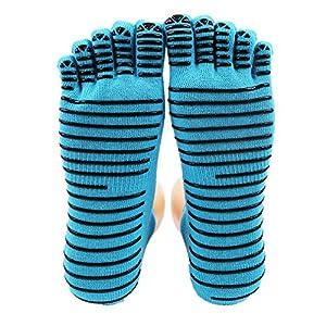 Maybesky Yoga Socken Anti-Rutsch-Tanz Fünf Finger Socken geeignet für Damen Pilates, Anti-Rutsch-Slip-Socken