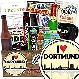 I love Dortmund | Geschenk Männer | Geschenk Box | I love Dortmund | Männer Set | Geschenk Dortmund Mann | Dortmund Geburtstag Geschenk | inkl. DDR Kochbuch