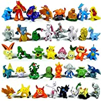 144 Pcs Anime Figure, Mini Action Figures Monster Toys Set for Pokemon Game Player, Kid's Great Gifts (144)