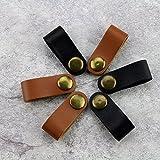 Interesting® 6 Stk PU Leder USB Kabel Sammler Kopfhörer Kabel Sammler Kabelbinder