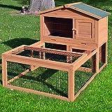 Zooprimus Kaninchenstall 06 Hasenkäfig - FLOCKE - Stall für Außenbereich (für Kleintiere: Hasen, Kaninchen, Meerschweinchen usw.)