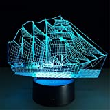 Best Lampes de table King - KING DO WAY 3D LED USB Veilleuse Lumière Review