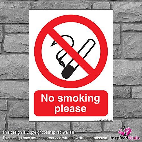 2x No Smoking Bitte?Gesundheit & Sicherheit Warnung Verbot Schild Aufkleber -