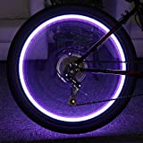 Generic Green : 20 LEDs Bicycle Lights Mountain Bike Light Cycling Spoke Wheel Lamp Bike Accessories 6 Colors Led Bicycle Spoke Wheel Light