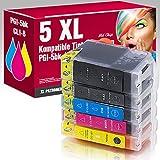 5x für Canon PIXMA IP3300 IP3500 IX4000 IX5000 MP510 MP520 MX700 mit Chip