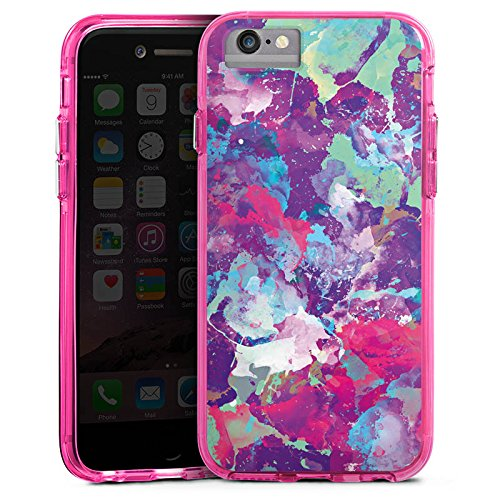 Apple iPhone 8 Bumper Hülle Bumper Case Glitzer Hülle Malerei Farben Watercolour Bumper Case transparent pink
